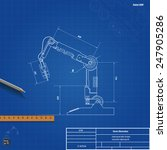 blueprint robotic arm  vector... | Shutterstock .eps vector #247905286