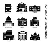 Building Icons Set  Government...