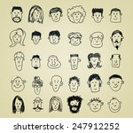 collection of different doodled ... | Shutterstock .eps vector #247912252