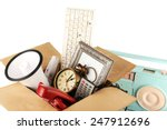 box of unwanted stuff close up   Shutterstock . vector #247912696