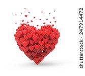 valentine heart | Shutterstock . vector #247914472