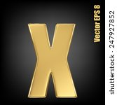 vector letter x from gold solid ... | Shutterstock .eps vector #247927852