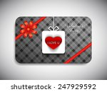 gift card of valentine's day... | Shutterstock .eps vector #247929592