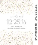 save the date invitation with... | Shutterstock .eps vector #247931188