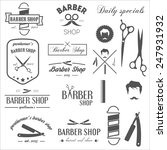 collection of vintage retro... | Shutterstock .eps vector #247931932