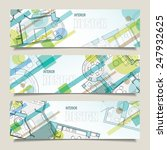 set of horizontal banners with... | Shutterstock .eps vector #247932625