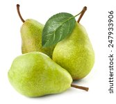 Pears Isolated On White...