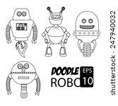 robot design over white... | Shutterstock .eps vector #247940032