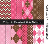 hot pink  pink  brown and white ... | Shutterstock .eps vector #247941892