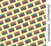 retro cassette background | Shutterstock .eps vector #247944616