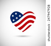 american flag in heart vector... | Shutterstock .eps vector #247947928