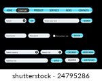 website design set on a black.... | Shutterstock .eps vector #24795286