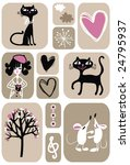 some images on love theme | Shutterstock .eps vector #24795937