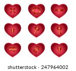 vector set of buttons for the... | Shutterstock .eps vector #247964002