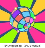 colorful disco ball