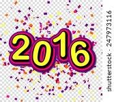 creative poster 2016 merry...   Shutterstock .eps vector #247973116