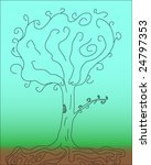a tree on blue background  ...   Shutterstock .eps vector #24797353