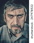 portrait of a serious man with... | Shutterstock . vector #247978522