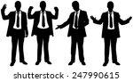 set of businessmen body... | Shutterstock .eps vector #247990615
