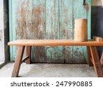 wooden rustic  bench | Shutterstock . vector #247990885