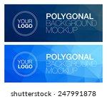 two horizontal polygonal banners | Shutterstock .eps vector #247991878