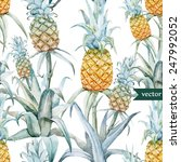 Pineapple  Watercolor  Palm ...