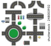 asphalt road plan parts vector... | Shutterstock .eps vector #248003932