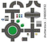 asphalt road plan parts vector... | Shutterstock .eps vector #248003932