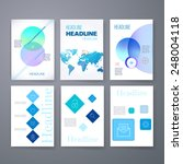 templates. set of web  mail ... | Shutterstock .eps vector #248004118