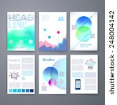 templates. set of web  mail ... | Shutterstock .eps vector #248004142