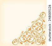 vector vintage floral ... | Shutterstock .eps vector #248005126