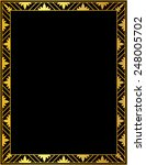 decorative gold frame on a... | Shutterstock .eps vector #248005702
