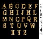 golden metallic shiny letters... | Shutterstock .eps vector #248020192