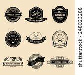 vector set of vintage hipster...   Shutterstock .eps vector #248023288