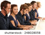 employees at the call center | Shutterstock . vector #248028058