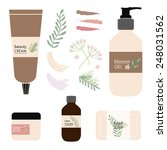 vector beauty products on white ... | Shutterstock .eps vector #248031562