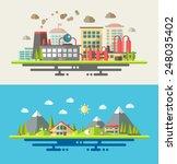 modern flat design conceptual... | Shutterstock . vector #248035402