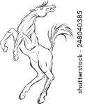 sketch of horse | Shutterstock .eps vector #248040385