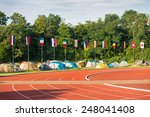 collection of flags on the... | Shutterstock . vector #248041408