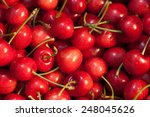 red cherry background texture | Shutterstock . vector #248045626
