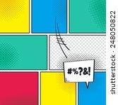 comic book template with speech ... | Shutterstock .eps vector #248050822