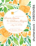 invitation wedding card with... | Shutterstock .eps vector #248056486
