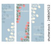 flowers invitation template... | Shutterstock .eps vector #248069212