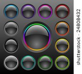 vector colorful button set