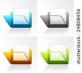 vector 3d folder icons