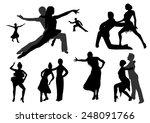 dance silhouettes black   Shutterstock .eps vector #248091766