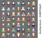 people diversity portrait... | Shutterstock .eps vector #248093665