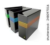 3d render of rack server data... | Shutterstock . vector #248097016