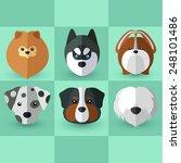 dog breeds | Shutterstock .eps vector #248101486