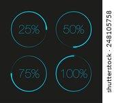 blue round progress bars.... | Shutterstock .eps vector #248105758